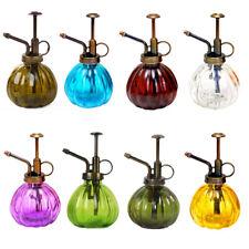 Vintage Style Glass Watering Can Mister Flower Garden Plant Spray Bottle Pump