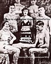 Old 1900s Charlie Wagner Tattoo/Tattooing Woman Man Parlor/Shop Wall Art Photo