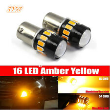 2X 1157 5630 Chip High Power Chip LED Amber Yellow Front Turn Signal Light Bulbs