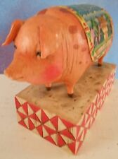 Jim Shore Heartwood Creek Pig Figure, Country Heritage, 2003