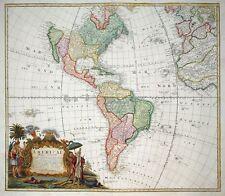 SÜDAMERIKA GEOGRAPHICA REGNI PERU BRASILIEN BOLIVIEN PARAGUAY HOMANN UM 1740
