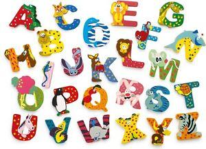 Buchstabentiere Buchstaben Tiere A-Z Holzbuchstaben Kinderzimmer Türschild Neu