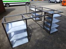 More details for stainless steel 'l shaped' back bar framework with shelving