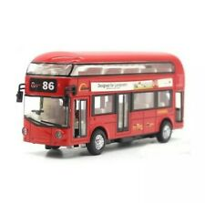 Red London Bus Model Car Toy Children For Kids With Light Sound Gift Souvenir