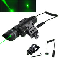 Green/Red Laser Sight Rifle Dot Scope Tactical 20mm Offset/Scope Mount Switch