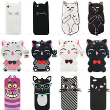 3D Cartoon Cat Phone Case Cover Soft Silicone For iPhone 5 6 7 8 Samsung Huawei
