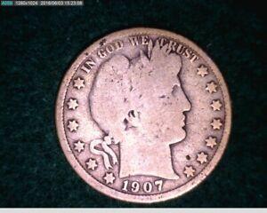 1907 O Barber Half Dollar ( 30-167 6m1 )