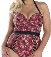 Curvy Kate Women's Swimwear Red Size 36K Plus Maya Halterneck Swimsuit $69 #252