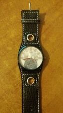 orologio uomo Georgie Valentian bracciale in pelle cinturino bluscuro
