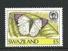 Album Treasures Swaziland  Scott # 517  5e Butterfly Queen Purple Lip MH
