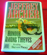 Jeffrey Archer Honour Among Thieves 10-Tape UNABR.Audio Bk Steven Pacey Thriller