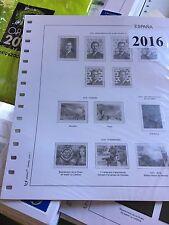 ESPAÑA HOJAS PARA SELLOS 2016 COMPLETO CON FILOESTUCHES TRANSPARENTES,NUEVAS