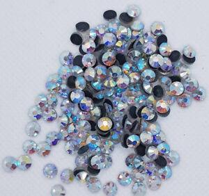 Hotfix Strasssteine Crystal AB, AAA-Qualität, Menge und Grösse wählbar