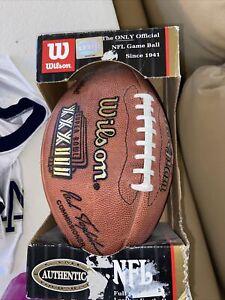 SUPER BOWL XXXIII 33 Authentic Wilson NFL Game Football **FALCONS--BRONCOS**