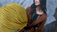 20 Knl. SUPREME WOLLE Merino Seide Cashmere Lang Yarns Messing Gold Gelb LUXUS