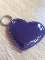 Aspinal Purple Patent Leather Keyring VGC