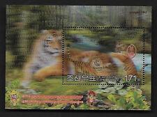 Korea 2010-1 China New Year of Tiger Stamp 3D S/S Zodiac Animal 虎年