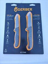 New 2-Pack Gerber Evo Jr & Mid Clip Folding Knife Knives Edc