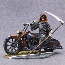 Skeleton Biker Painted Figurine Motorcycle Metal Toy Soldiers 54mm 1/32 scale