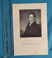 Original 1846 Antique Engraving Print Robert Jameson Esq Jenkins Fisher