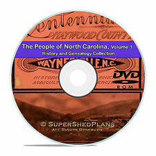 North Carolina NC Vol1 Civil War Family Tree History Genealogy 121 Books DVD B45