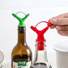 Silikon Flasche Kork Ausgießer Auslauf Stopper Spender für Wein Olivenöl Essig