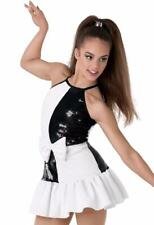 Dance Costume Medium/Large Child Black White Sequin Jazz Tap DUET Competition