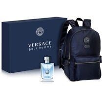 Versace Mens Pour Homme 2-PC Gift Set Eau De Toilette & Backpack Authentic NIB