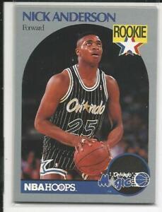 1990-91 NBA Hoops #214 Nick Anderson Rookie(U PICK)