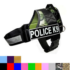Removable Label Patches POLICE K9 Reflective Service Dog Vest Harness 11 Colors