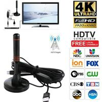 300 Mile HDTV Antenna Aerial HD Digital TV Signal Amplifier Booster Indoor Cable