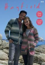 Sirdar 8040 Knitting Pattern Womens Mens Cardigans in Hayfield Spirit DK