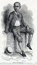 Antique  print : son / Tewodros Theodore Theodorus II Ethiopia Abyssinia 1867