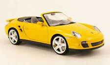 MONDO MOTORS 2007 PORSCHE 911/997 TURBO CABRIOLET YELLOW 1:18 NEW STOCK!