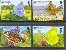 Guernsey Butterflies & Moths set of 4 mnh