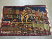 3' X 5' New Vintage Hand Made Afghan Balouch Tribal Wool Pictorial Rug # 304