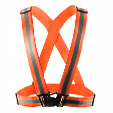 Unisex Security Safety Reflective Vest Belt Straps Night Running Jogging Cycling