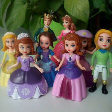 8 Disney Princess Sofia the First Action Figures Figurines Toy Cake Topper Decor