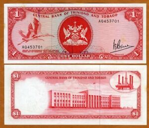 Trinidad and Tobago, 1 dollar, L. 1964 (1977), P-30a, aUNC