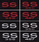 New 1968-1974 Chevy Nova Black Floor Mats Set Of 2 W Embroidered Ss Logo Pair