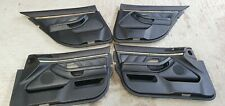 BMW 5 SERIES E39 1998-2013 SALOON TOURING BLACK SET OF DOOR CARDS BLACK LEATHER