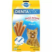 Pedigree DentaStix Toy/Small Dog Dental Treats Original Flavor Dental Bones 24ct