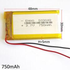 750mAh 3.7V Lipo Polymer li-ion Battery For MID DVD GPS PDA mobile phone 503048