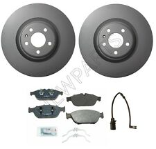For Audi A6 A7 A8 Quattro Front Brake Pads & Sensor Rotors Kit 356mm OD Vented