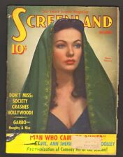 Screenland Magazine December 1941 Gene Tierney Lots of Great Ads and Photos