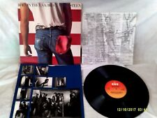 BRUCE SPRINGSTEEN, BORN IN THE U.S.A, LYRIC INSERT, PHOTO INNER,EX CONDITION