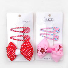 New duo pack of 3 girl bow ribbon hair clips, total 6 pcs FREE POST Sydney
