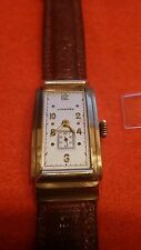 Longines Curvex 1930s14k Gold Manual Wind Men's 17 Jewel Watch/new crystal Incl.