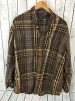 ROPER Shirt Cowboy Western Long Sleeve Button Down Cotton Plaid Men's XL Y1