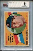 1960 Topps Baseball #148 Carl Yastrzemski Rookie Card RC Graded BVG Ex MINT 6